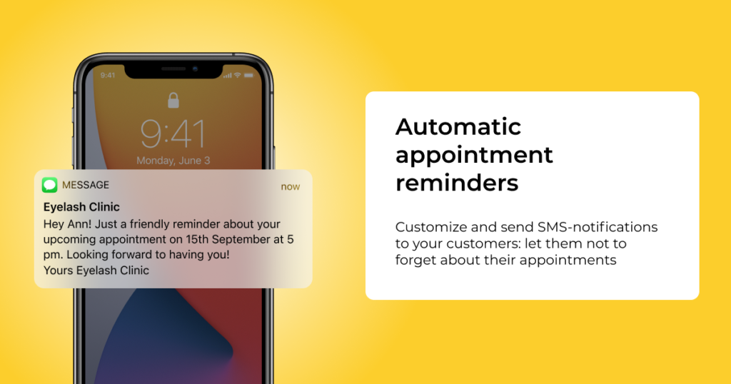 appointment notifications booking reminder